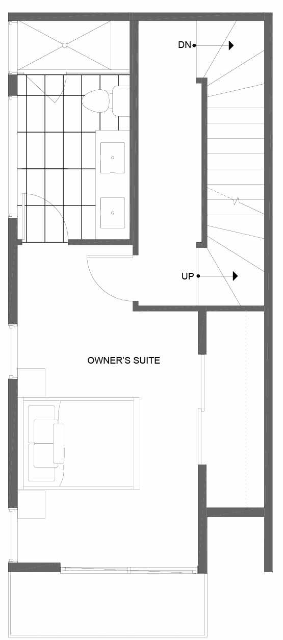 Third Floor Plan of 14351 Stone Ave N, One of the Tate Townhomes in Haller Lake