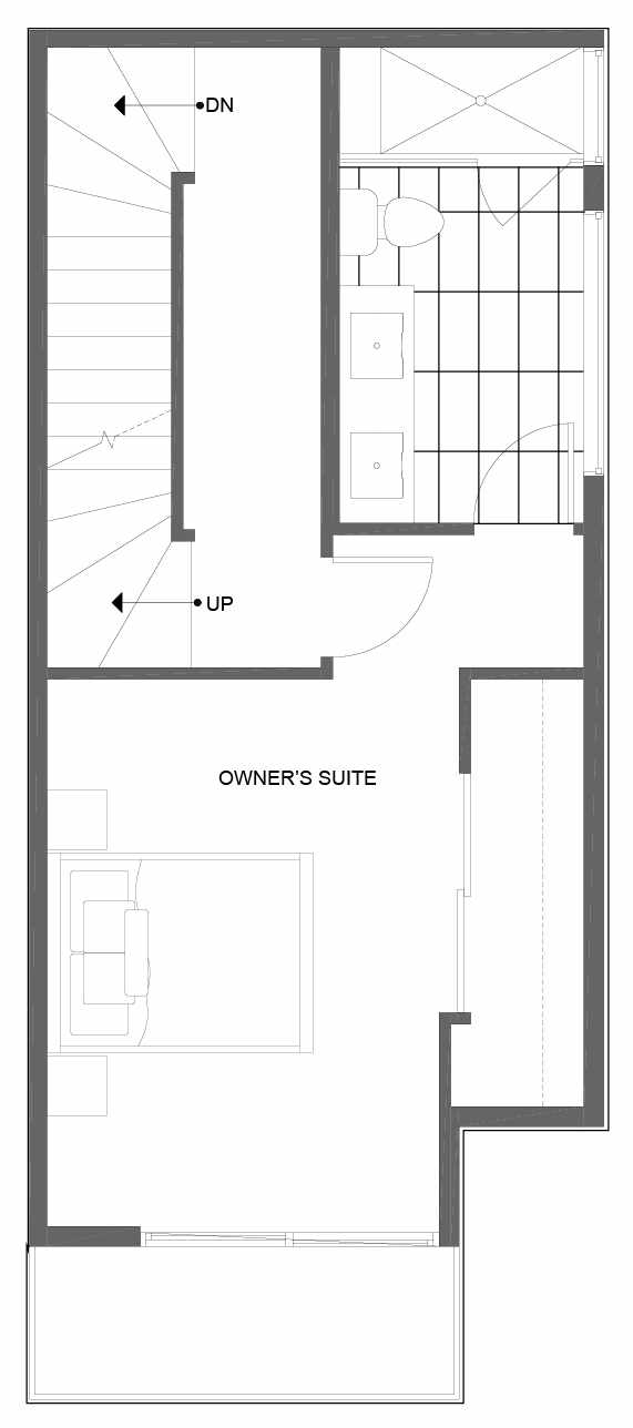 Third Floor Plan of 14353 Stone Ave N, One of the Tate Townhomes in Haller Lake