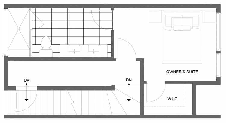 Third Floor Plan of 14355 Stone Ave N, One of the Tate Townhomes in Haller Lake