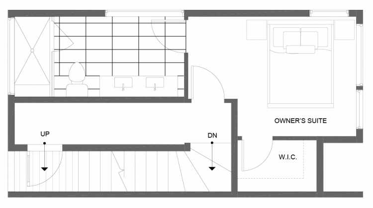 Third Floor Plan of 14357 Stone Ave N, One of the Tate Townhomes in Haller Lake