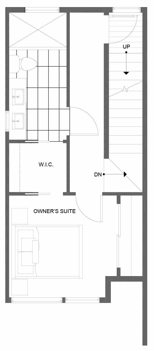 Third Floor Plan of 14359 Stone Ave N, One of the Tate Townhomes in Haller Lake
