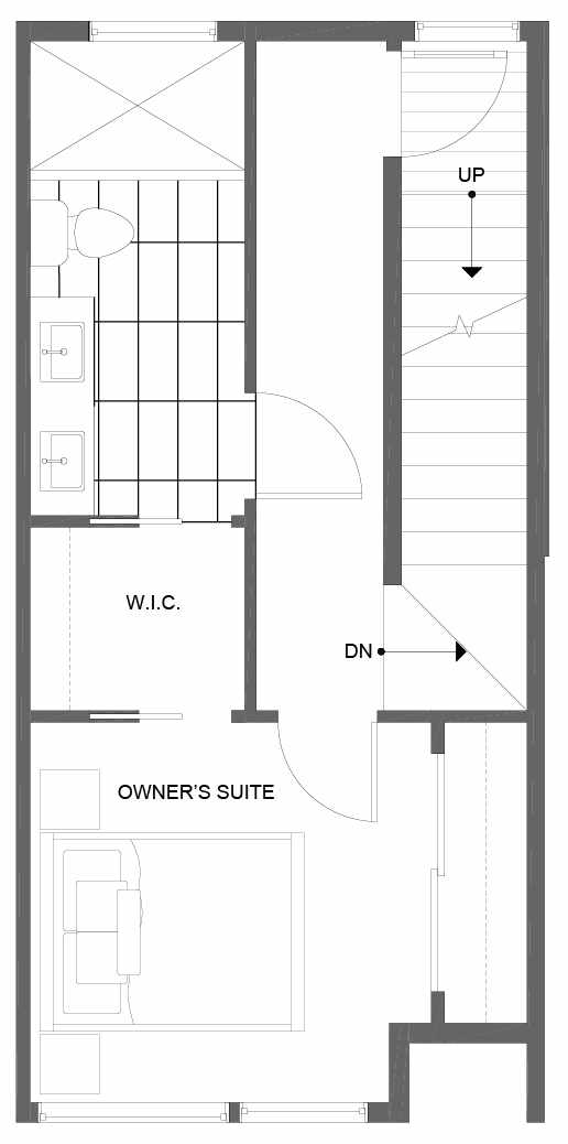 Third Floor Plan of 14361 Stone Ave N, One of the Tate Townhomes in Haller Lake