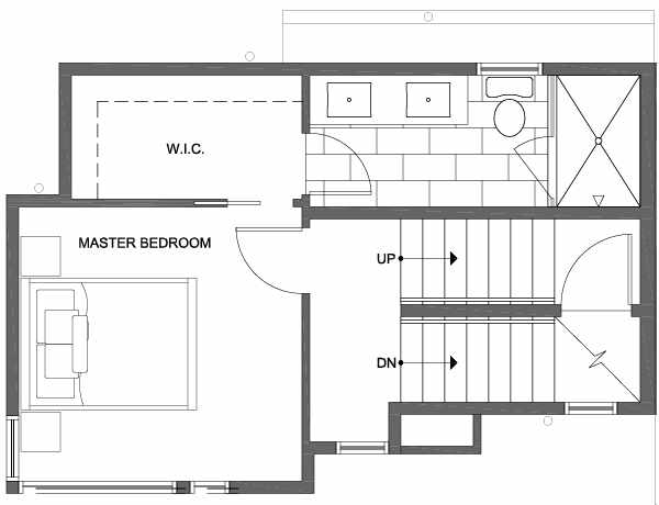 Third Floor Plan of 6111 17th Ave NW of the Kai Townhomes in Ballard