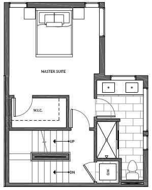 Third Floor Plan of 3062A SW Avalon Way in West Seattle of Isla Townhomes