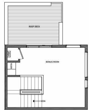 Fourth Floor Plan of 3062A SW Avalon Way in West Seattle of Isla Townhomes