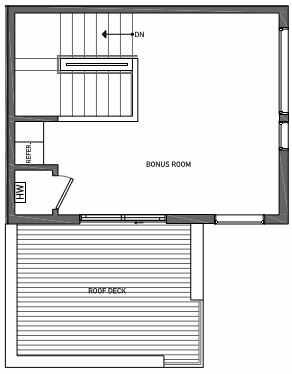 Fourth Floor Plan of 3062B SW Avalon Way in West Seattle of Isla Townhomes