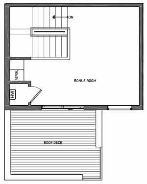 Fourth Floor Plan of 3062D SW Avalon Way in West Seattle of Isla Townhomes
