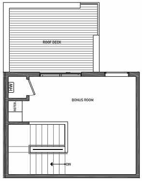 Fourth Floor Plan of 3062C SW Avalon Way in West Seattle of Isla Townhomes