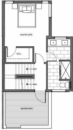 Third Floor Plan of 3062E SW Avalon Way in West Seattle of Isla Townhomes