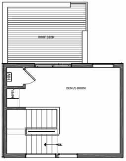 Fourth Floor Plan of 3062E SW Avalon Way in West Seattle of Isla Townhomes