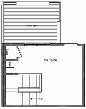 Fourth Floor Plan of 3062F SW Avalon Way in West Seattle of Isla Townhomes