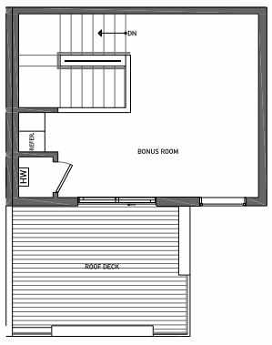 Fourth Floor Plan of 3062G SW Avalon Way in West Seattle of Isla Townhomes
