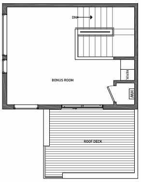 Fourth Floor Plan of 3062I SW Avalon Way in West Seattle of Isla Townhomes