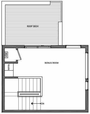 Fourth Floor Plan of 3070A SW Avalon Way in West Seattle of Isla Townhomes