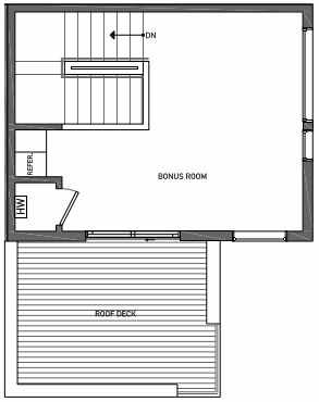 Foruth Floor Plan of 3070B SW Avalon Way in West Seattle of Isla Townhomes