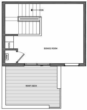 Fourth Floor Plan of 3070D SW Avalon Way in West Seattle of Isla Townhomes
