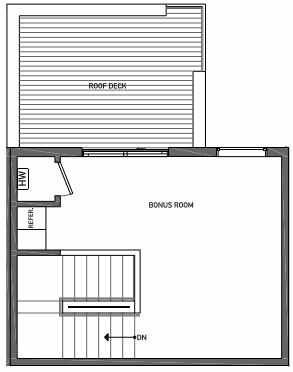Fourth Floor Plan of 3070C SW Avalon Way in West Seattle of Isla Townhomes