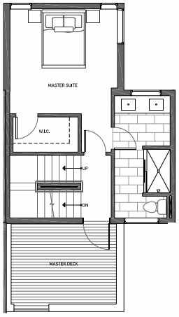 Third Floor Plan of 3070E SW Avalon Way in West Seattle of Isla Townhomes