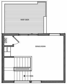 Fourth Floor Plan of 3070E SW Avalon Way in West Seattle of Isla Townhomes