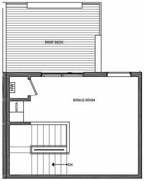 Fourth Floor Plan of 3070F SW Avalon Way in West Seattle of Isla Townhomes