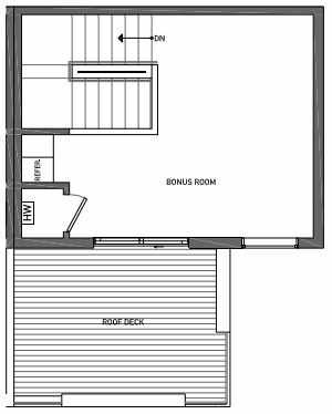 Fourth Floor Plan of 3070G SW Avalon Way in West Seattle of Isla Townhomes