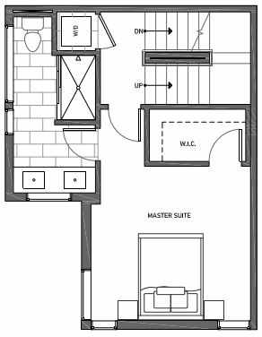 Third Floor Plan of 3070I SW Avalon Way in West Seattle of Isla Townhomes