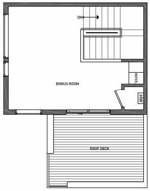 Fourth Floor Plan of 3070I SW Avalon Way in West Seattle of Isla Townhomes