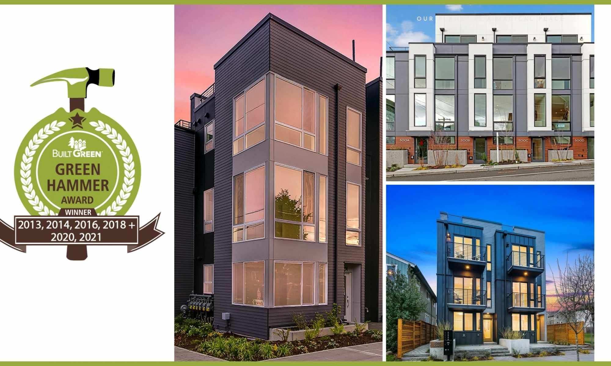 Isola Homes Wins a Built Green Hammer Award
