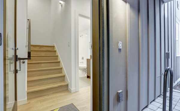 Entryway to 3062F at Isla Townhomes in West Seattle