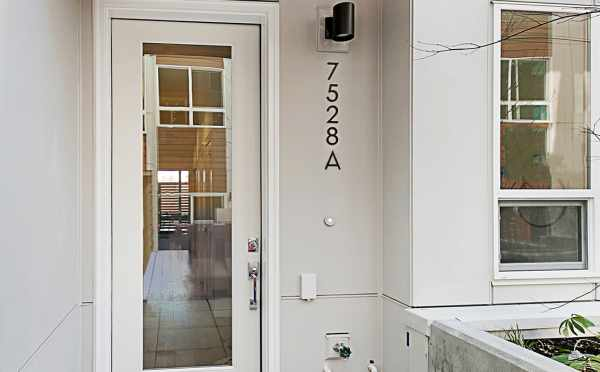 Front Door of 7528A 15th Ave NW, Townhome in Talta Ballard