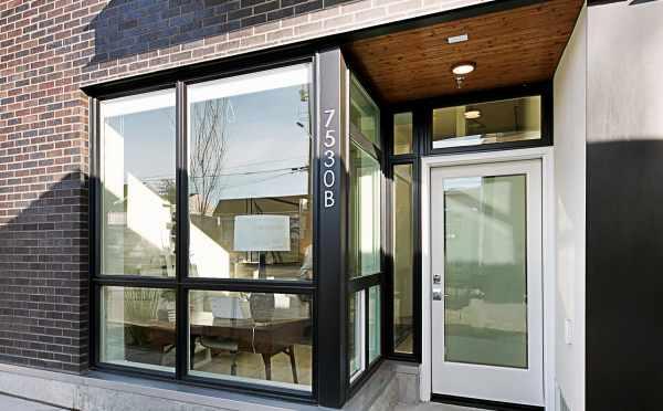 Front Door of 7530B 15th Ave NW, Live-Work Unit in Talta Ballard