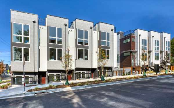 Front Exterior of the Alina Townhomes in Crown Hill