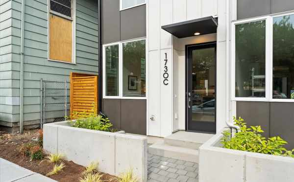 Front Door of 1730C 11th Ave, One of the Altair Townhomes in Capitol Hill by Isola Homes