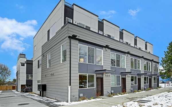 Exterior View of the Avani Townhomes in Capitol Hill