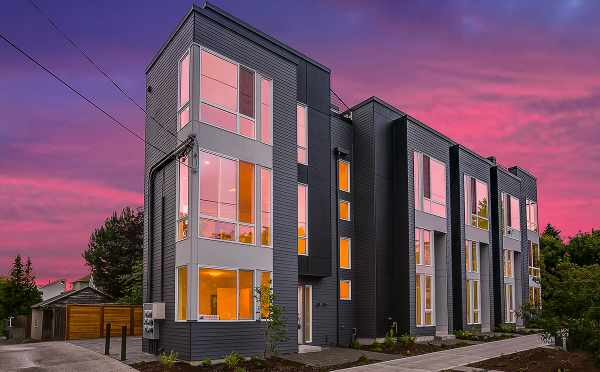 Kai Townhomes in Ballard at Dusk