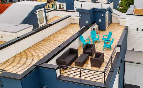 Rooftop Deck of One of the Lucca Townhomes in Wallingford
