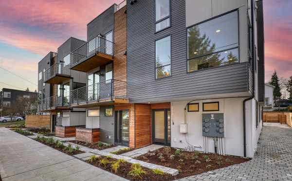 Front Exterior of the Maya Townhomes in the Haller Lake Neighborhood of North Seattle