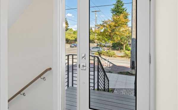 Entryway at 6421 14th Ave NW, One of the Oleana Townhomes by Isola Homes