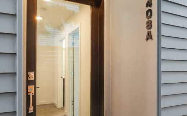 Front Door of Unit 408A at Oncore Townhomes in Capitol Hill