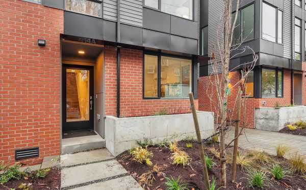 Front Door of Unit 414A at Oncore Townhomes in Capitol Hill