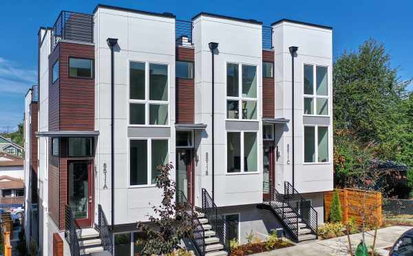 Exterior of the Ryden Townhomes in Crown Hill