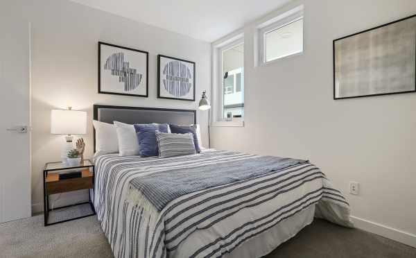 First-Floor Bedroom at 1327 NW 85th St, One of the Thoren Townhomes in Crown Hill