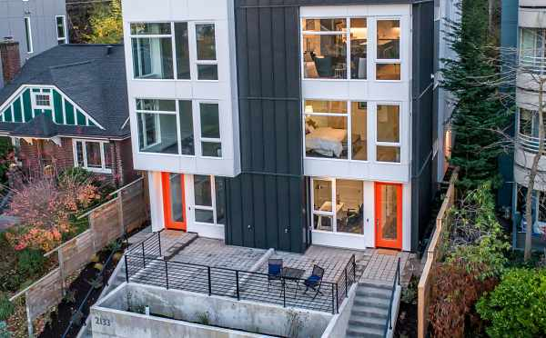 Front Exterior of Twin II Duplex at 2135 Dexter Ave N in Queen Anne, Seattle