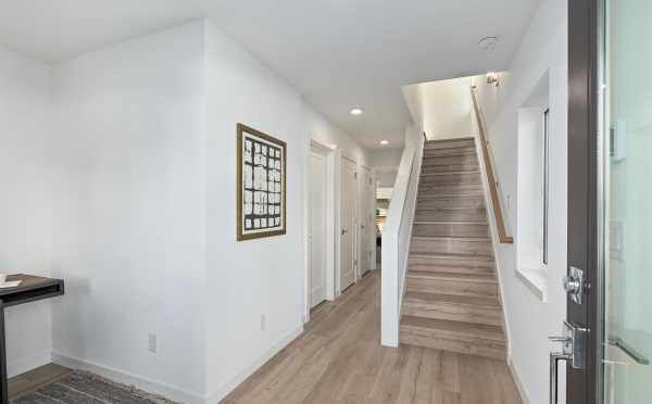 Entryway at 6309F 9th Ave NE, One of the Homes at Zenith Towns East by Isola Homes