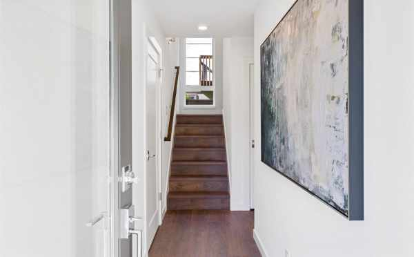 Entryway at 6317E 9th Ave NE, One of the Zenith Towns North by Isola Homes