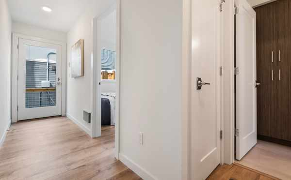Front Door and Entry Hallway at 1113A 14th Ave