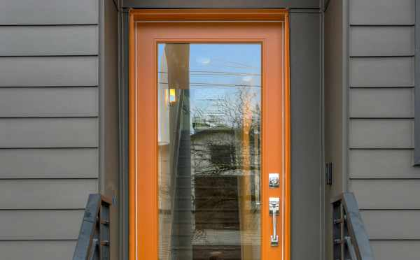 Front Door of 201B 23rd Ave E, One of the 6 Central Townhomes