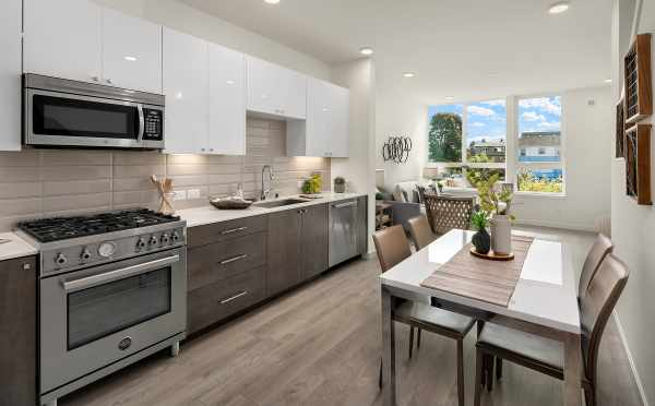 Kitchen and Dining Area in 1644E 20th Ave of the Avani Townhomes
