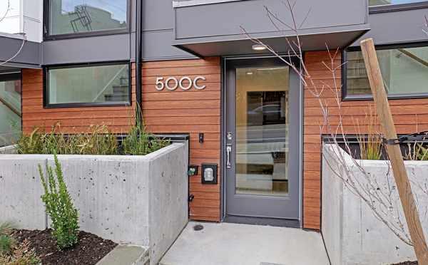 Front Door of 500C NE 71st St in Green Lake