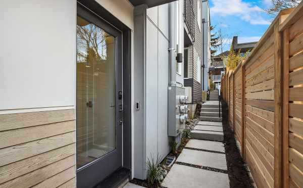 Front Door of 6539F 4th Ave NE, One of the Bloom Townhomes